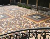 Произвольный рисунок укладки тротуарной плитки