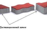 Ограничители (дистанционные замки) тротуарной плитки