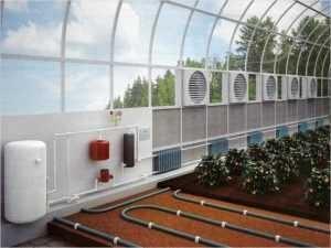 водяная система отопления зимнего сада